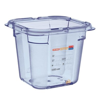 Araven Voedselcontainer Blauw ABS - GN1/6 | 150mm Diep