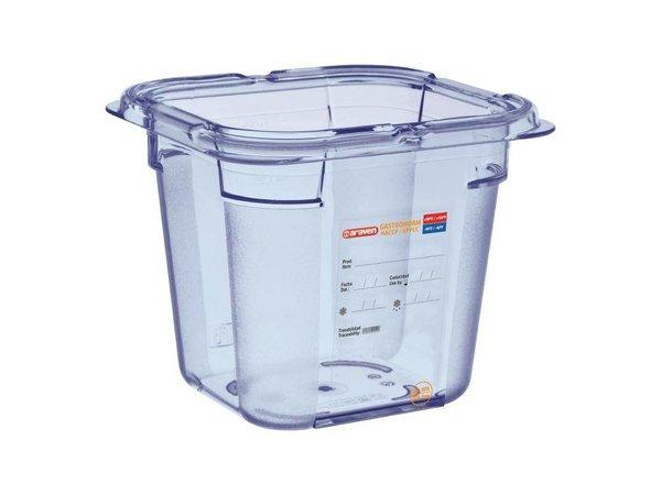 Araven Voedselcontainer Blauw ABS - GN1/6   150mm Diep