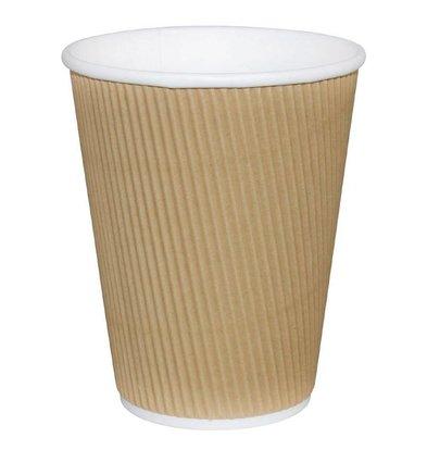 Fiesta Koffiebekers | Lichtbruin | 340ml | 25 Stuks