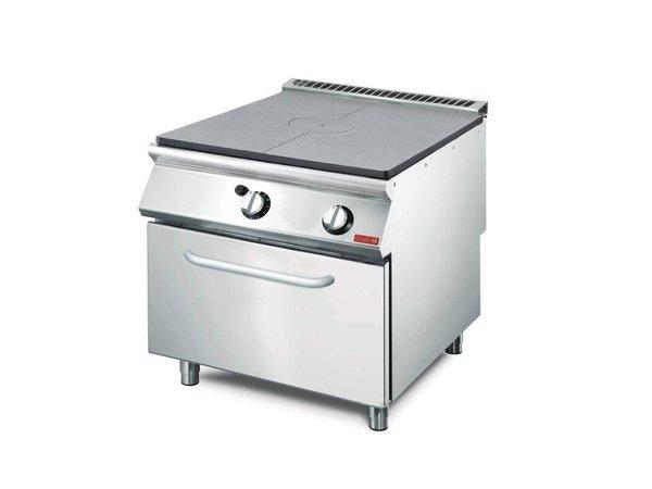 Gastro M Platenfornuis Gas + Oven   RVS   17kW   700x800x850(h)mm