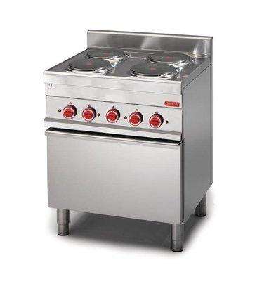 XXLselect Fornuis 4 Kookplaten + Oven   14,4kW/400V   650x700x850(h)mm