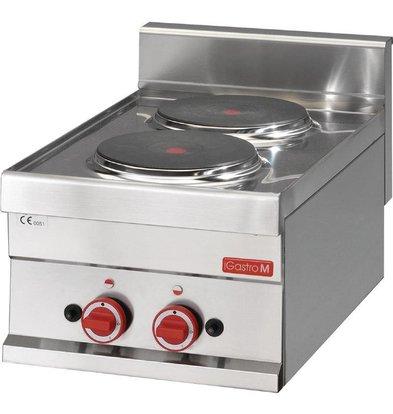 Gastro M Kookplaat Elektrisch | 2x Ø220mm | 3kW/400V | 300x600x280(h)mm