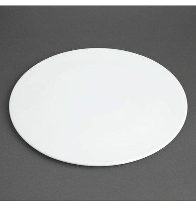 Olympia Pizzabord Ø330mm | Wit Porselein| Per 6 Stuks