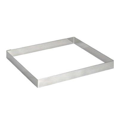 De Buyer Taartvorm Vierkant RVS | 80x80x20(h)mm