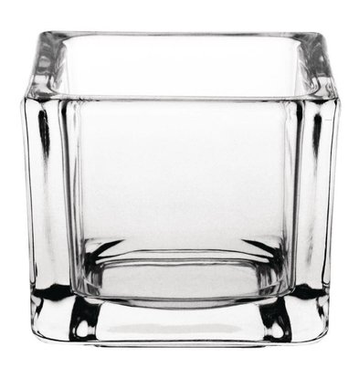 Olympia Theelichthouder Vierkant | Glas | 60x60x50(h)mm | Verpakt per 6