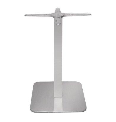 Bolero Tafelpoot RVS | Vierkant | 400x400x680(h)mm
