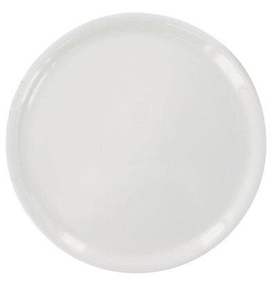 XXLselect Pizza Bord Napoli | Wit Porselein | Ø330mm | Per 6 Stuks