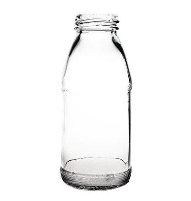 Olympia Glass Milk Bottle 200ml | Packed per 12