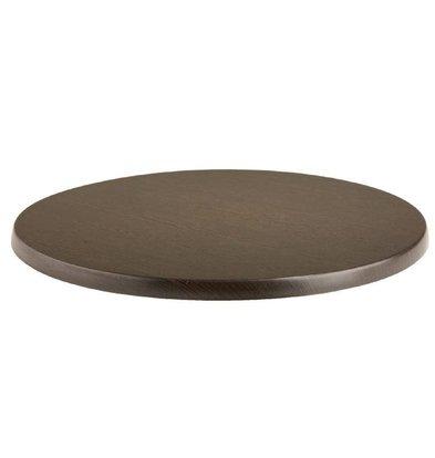 Werzalit Werzalit wenge tafelblad, rond 70cm