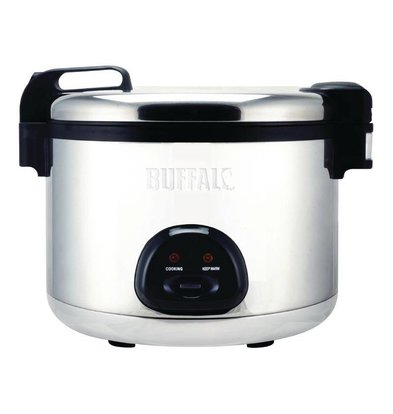 Buffalo Rice Cooker Jumbo + + Measuring cup Spatula | 27 Liter / 108 Portions