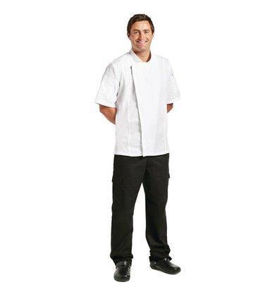 Chef Works Urban Koksbuis Springfield met Rits - Chef Works - Korte Mouwen - Beschikbaar in 4 Maten - Wit