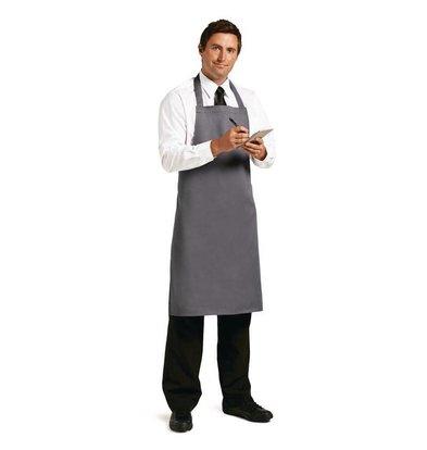 Whites Chefs Clothing Whites Halterschort Grijs - Polyester/Katoen - 711(b)x965(l)mm - Unisex