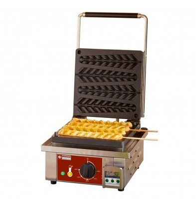 Diamond Waffel Lolly Machine - 4 Stuks - 305x440x(h)230mm - 1.6KW