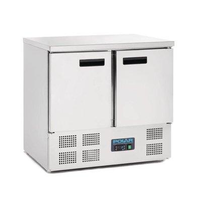 Polar Cool workbench - stainless steel - 2 doors - 90x70x (h) 88cm