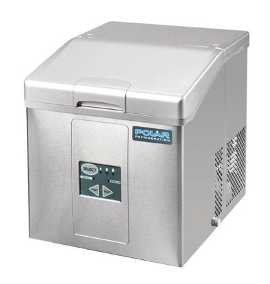 Polar Ice Cube Machine with Removable Storage Basket - 3 Adjustable Sizes - 17kg / 24h - 2 year warranty