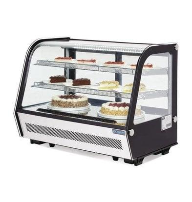 Polar Showcase cooler Table model - Black / stainless steel - 160 Liter - 87x57x (h) 69cm