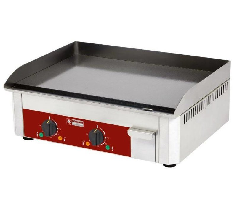 Diamond Bakplaat elektrisch geëmailleerd - Glad - 60x45x(h)19cm - 6kW