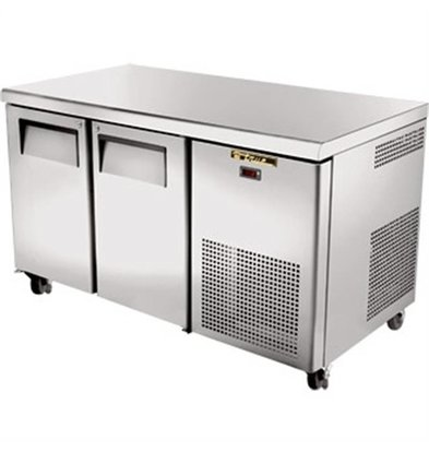 True Freeze Workbench stainless steel 2 door - 297 Liter - 142x712x (h) 86cm - 5 Year Warranty