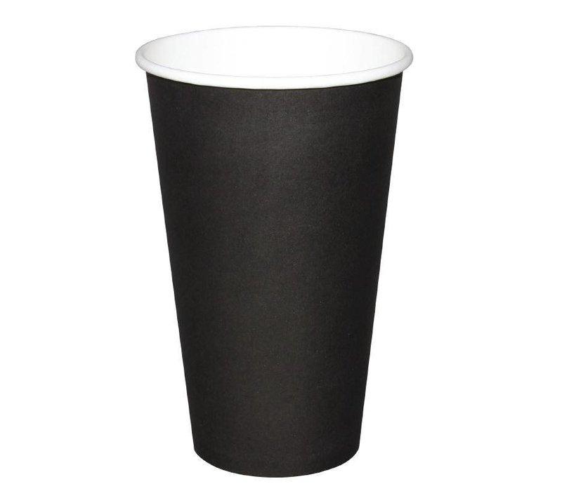 Fiesta Hot cups Beker - Zwart - 45cl - Disposable - Aantal stuks 50