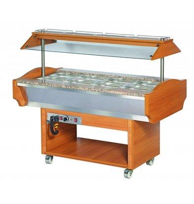 Combisteel Buffet Warmhoudvitrine | 500W | +30/+90°C | 1505x900x870/1320(h)mm