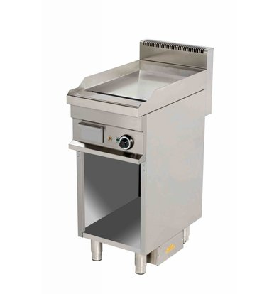 Combisteel Electric Griddle Chrome | smooth | 4kW / 400V | 400x700x900 (h) mm