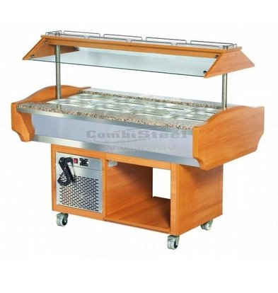 Combisteel Buffet Refrigerated display case | 220W | 4 / 1GN | 1505x900x870 / 1320 (h) mm
