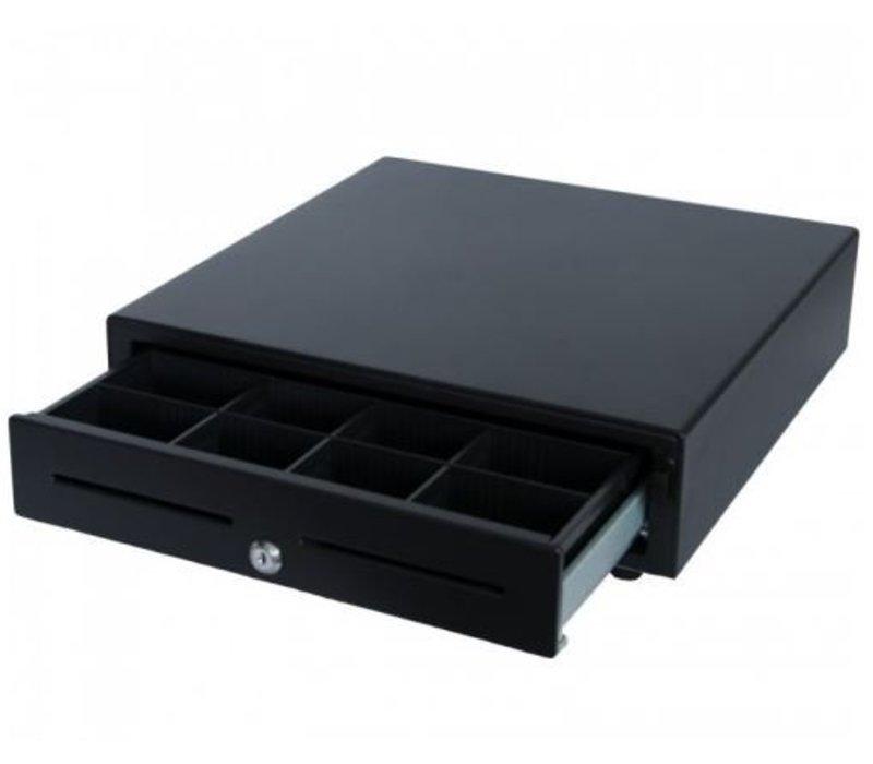 XXLselect Kassalade Fronttouch Zwart | RED-410 Budget | 8 Munt/4 Biljet (ABS) | 2 Afroomgleuven | 410x415x110(h)mm