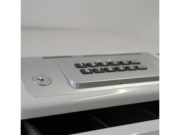 XXLselect Kassalade met Pincode   ND-350 Wit   4 Munt/ 4 Biljet   354(b)x418(d)x165(h)mm