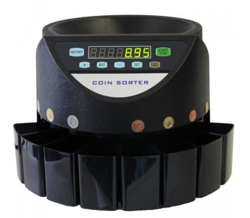 XXLselect Munttelmachine CS-270 | Telt 270 Munten/minuut | Kleinbedrijf