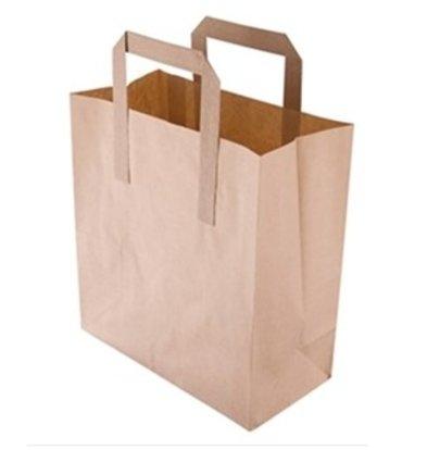 XXLselect Bruine Papieren Draagtassen | Vetvrij Kraftpapier | in 2 Maten Verkrijgbaar