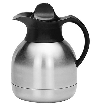 XXLselect Thermos Stainless Steel - 1 Liter - Black Screw