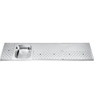 Gamko Stainless steel bar top Sink + Links   Gamko ST BB230L   Around Motif   500x2300mm   STAR-Line