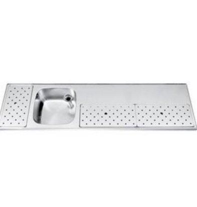 Gamko Stainless steel bar top Sink + Links | Gamko ST BB180L | Around Motif | 500x1800mm | STAR-Line
