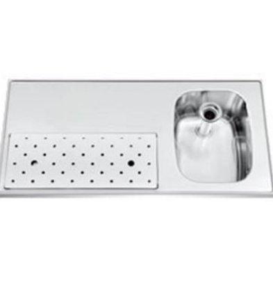 Gamko Stainless steel bar top + Sink Right | Gamko ST BB100R | Around Motif | 500x1000mm | STAR-Line