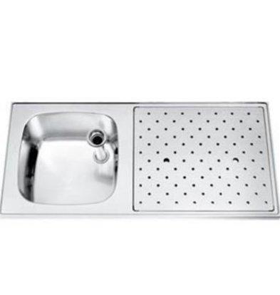 Gamko Stainless steel bar top Sink + Links | Gamko ST SL110L | Around Motif | 500x1100mm | STAR-Line