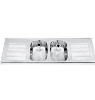 Gamko Buffet Journal RVS + 2 Sinks Central | Gamko CO SB1502C | Cross Motif | 500x1500mm | DRESSER