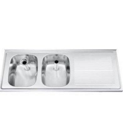 Gamko Buffet Journal RVS + 2 sinks Links | Gamko CO SB1202L | Cross Motif | 500x1200mm | DRESSER