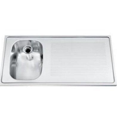 Gamko Buffetblad RVS + Spoelbak Links | Gamko CO-SB100L | Kruis Motief | 500x1000mm | COMMODE