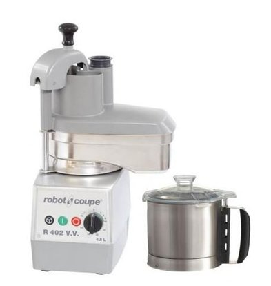 Robot Coupe Combi Cutter & Vegetable Cutter | Robot Coupe R402 VV | 750W | 4.5 Liter | Variable Speed: 300-3500 RPM