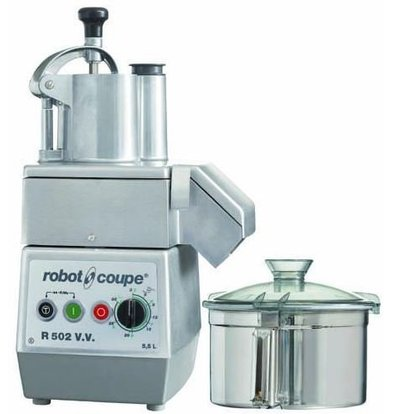 Robot Coupe Combi Cutter & Groentesnijder   Robot Coupe R502VV   1,3kW   5,5 Liter   Variabele Snelheid: 300 - 3.500 RPM