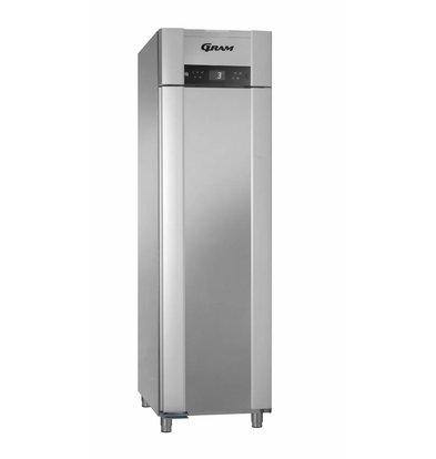 Gram Koelkast RVS | ENERGIEZUINIG | Gram SUPERIOR EURO K 62 CCG L2 4S | 465L | 620X855X2125(h)mm