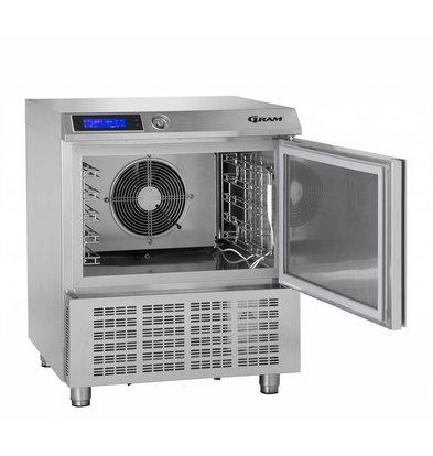 Gram Snelkoeler/Vriezer RVS | 5 x GN 1/1 of 40x60cm | Gram PROCESS KPS 21 SH | 745x720x900(h)mm