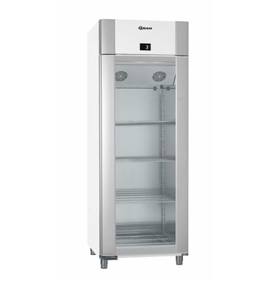 Gram Refrigerator White / ALU with Glass Door | Gram ECO TWIN KG 82 LAG L2 4N | 614L | 820x785x2125 (h) mm