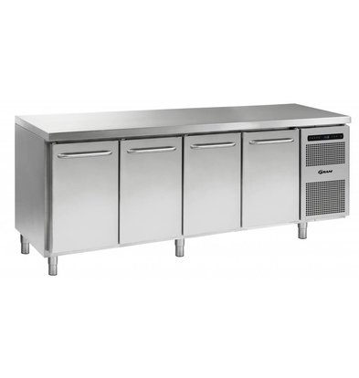 Gram Cool Workbench SS | 3 Doors 2 + Laden | GASTRO 07 grams K 2207 CSG A DL / DL / DL / 2D L2 | 2163x700x885 / 950 (h) mm