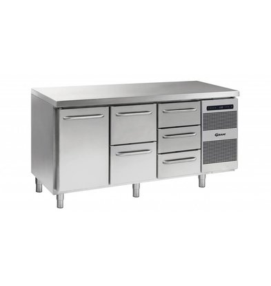 Gram Cool Workbench 1 Door + 2 + 3 Drawers | GASTRO 07 grams K 1807 CSG A DL / 2D / 3D L2 | 506L | 1726x700x885 / 950 (h) mm