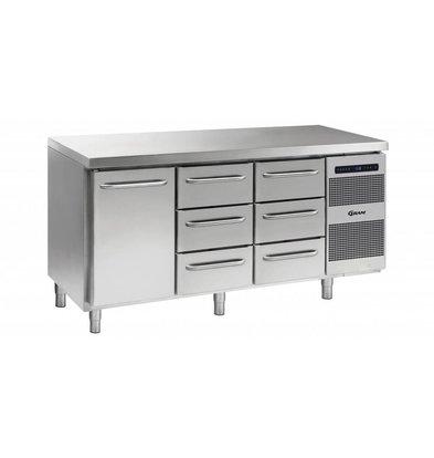 Gram Koelwerkbank 1 Deur + 3+3 Laden | Gram GASTRO 07 K 1807 CSG A DL/3D/3D L2 | 506L | 1726x700x885/950(h)mm