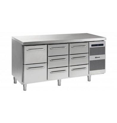 Gram Cool Workbench 2 + 3 + 3 Drawers | GASTRO 07 grams K 1807 CSG A 2D / 3D / 3D L2 | 506L | 1726x700x885 / 950 (h) mm