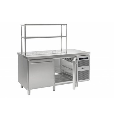Gram Cool Workbench SS 2 Doors | GASTRO 08 grams K 1808 D CSG S OPL DL / DR / L2 | 586L | 1698x800x885 / 950 (h) mm
