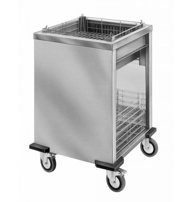 Mobile Containing Wheeled Stacker unheated | Mobile Containing ORT-MS / B | baskets 500x500mm