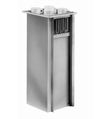 Mobile Containing Recessed Stacker unheated | Mobile Containing TSG | for Tableware | Stack Unit Tailor Made
